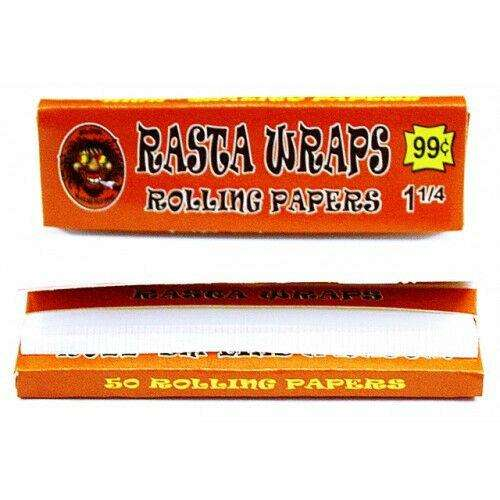 Rasta Wraps Rolling Papers - BLV Delivery