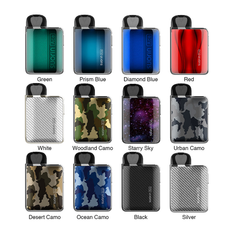 Suorin Ace 1000mAh Pod System Starter Kit With Refillable 2ML Cartridge Pod