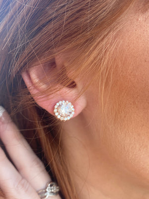 CZ Stud Bling earrings