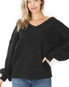 """Late night"" slouchy sweater"