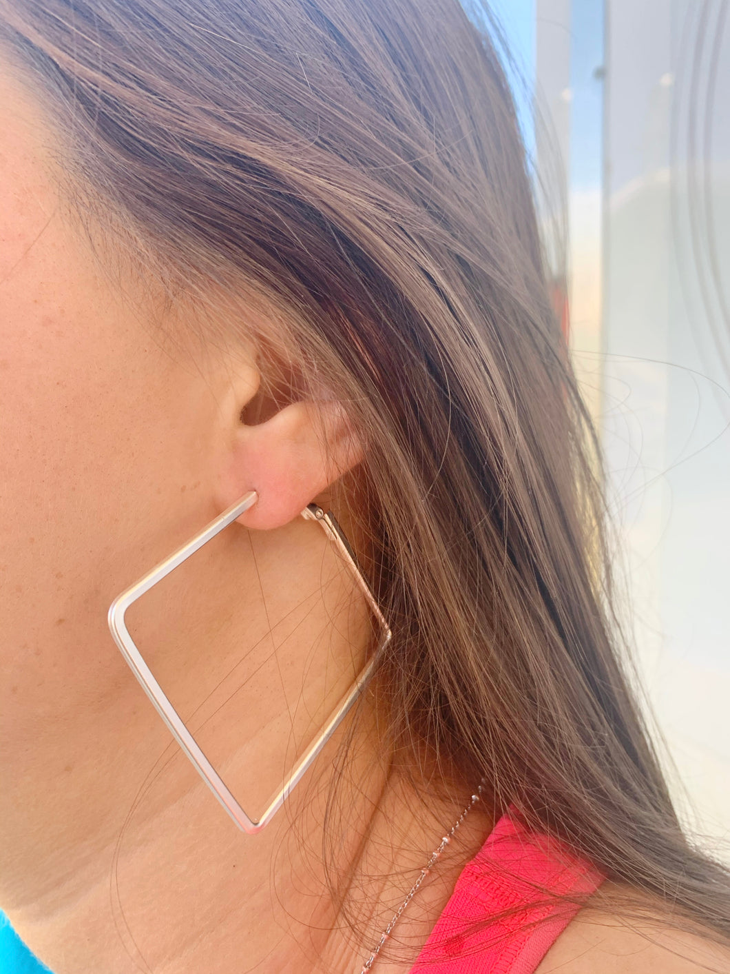 """Fuller"" square hoop earrings"