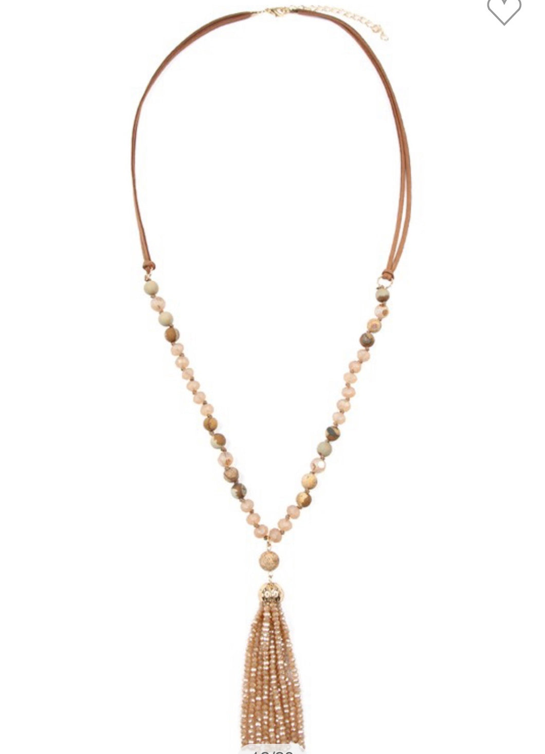 RONDELLE TASSEL PENDANT WITH POLYCORD NECKLACE