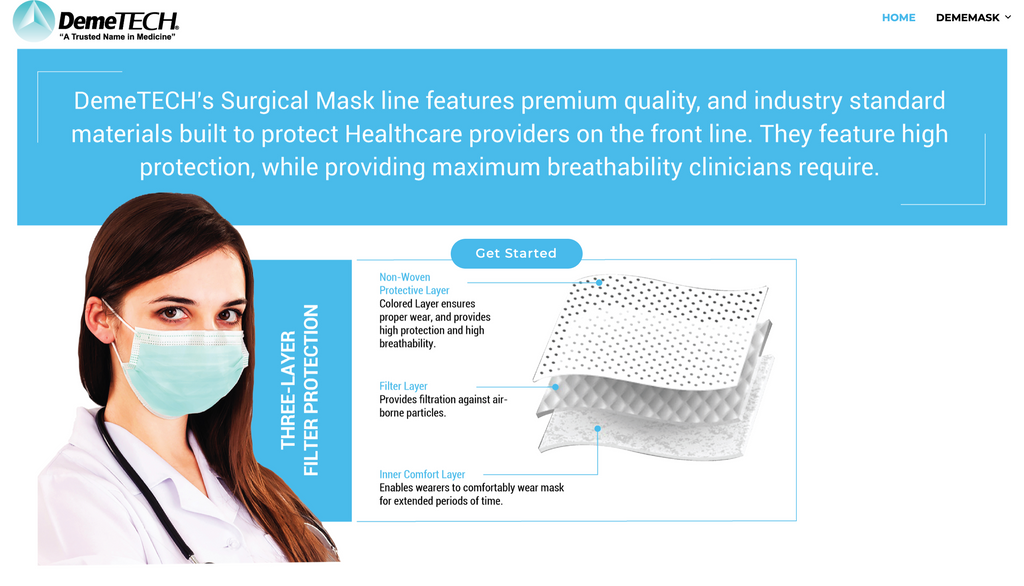 Surgical Mask Blue Level 3-DemeMask