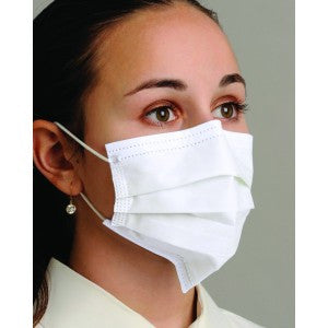 Sensitive Pleated Earloop White Masks