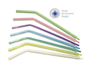 Multicolored Tips- Plastic Air/Water 3-Way Syringe Tips