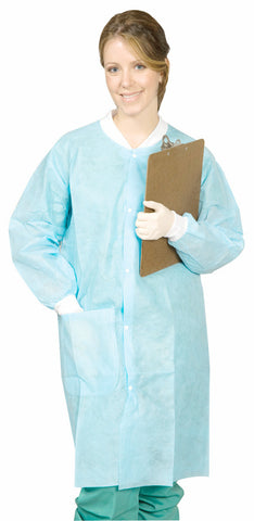 Disposable Full-Length Lab Coat