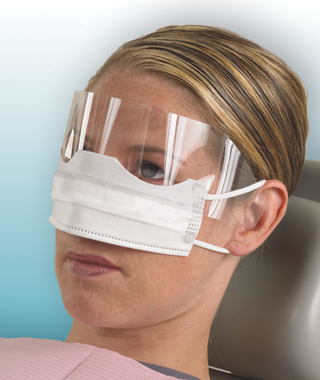 Patient Safety Mask w/ Shield-Crosstex