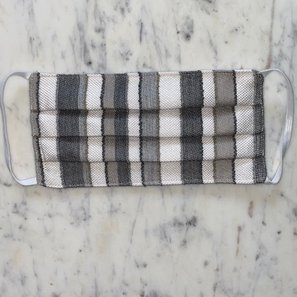 Grey Stripe Washable Fabric Mask