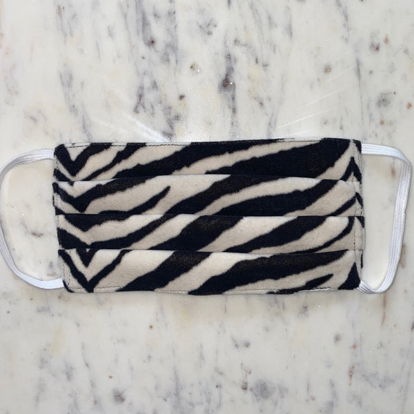Zebra Washable Fabric Mask
