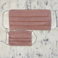 Pink Linen Washable Fabric Mask