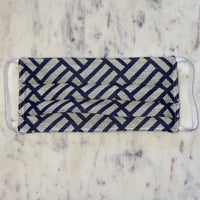 Navy Geometric Washable Fabric Mask