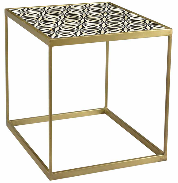 Agoura Brass End Table