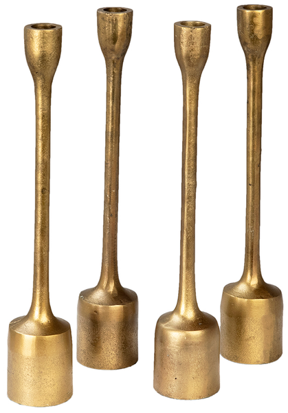 "Brass Candle Stands - 14"" set of 4"