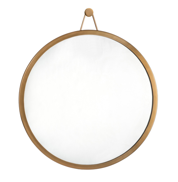 Hanging Brass Mirror & Hook
