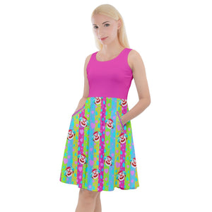 Special Request A Character Knee Length Skater Dress With Pockets