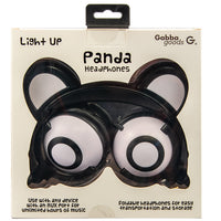 Light Up Panda Ear Headphones