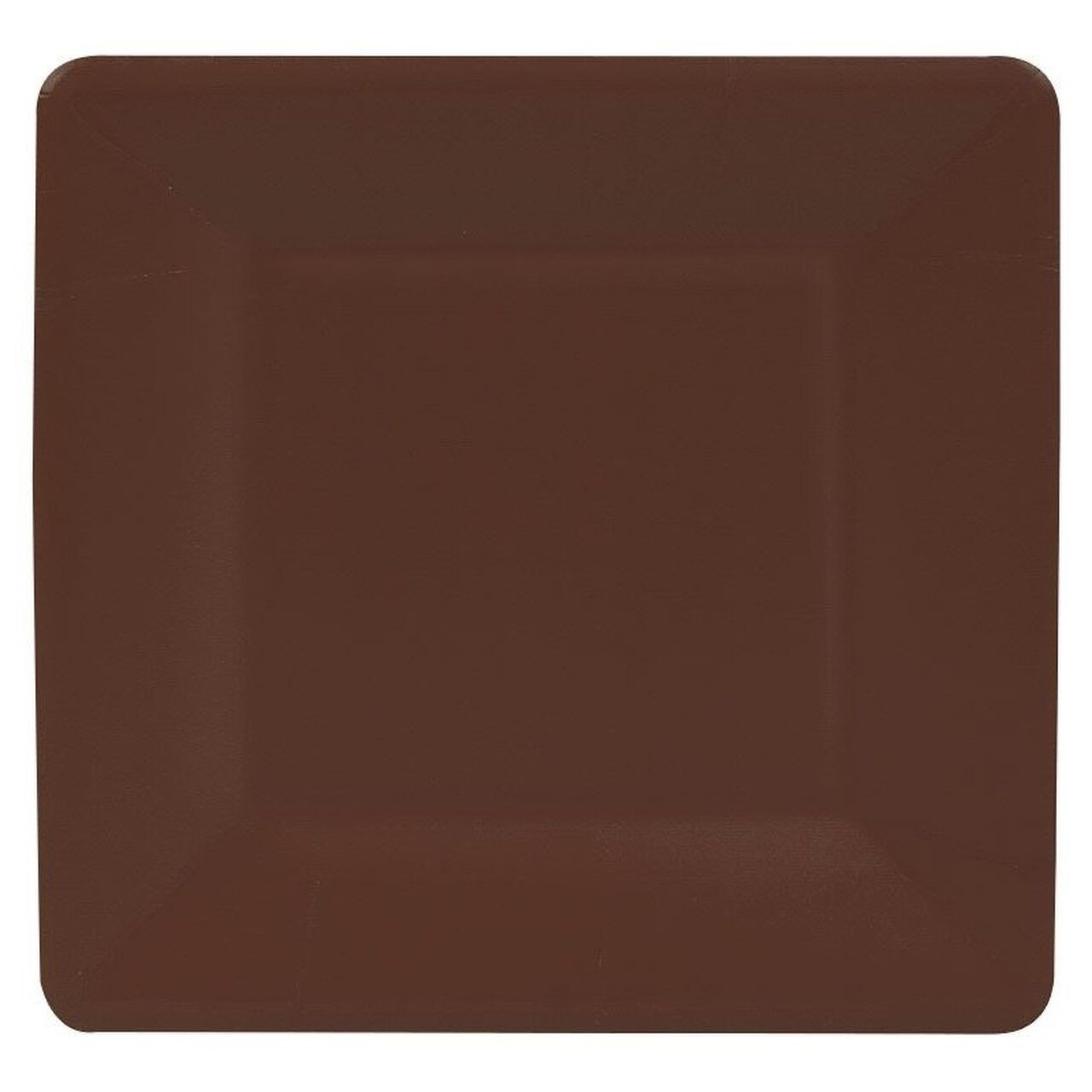 Square Paper Plate in Chestnut