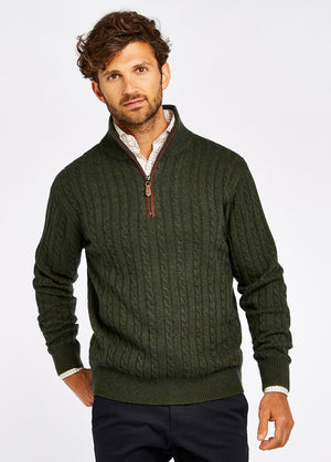 Dubarry Thompson Zip-Neck Cable Stitch Sweater