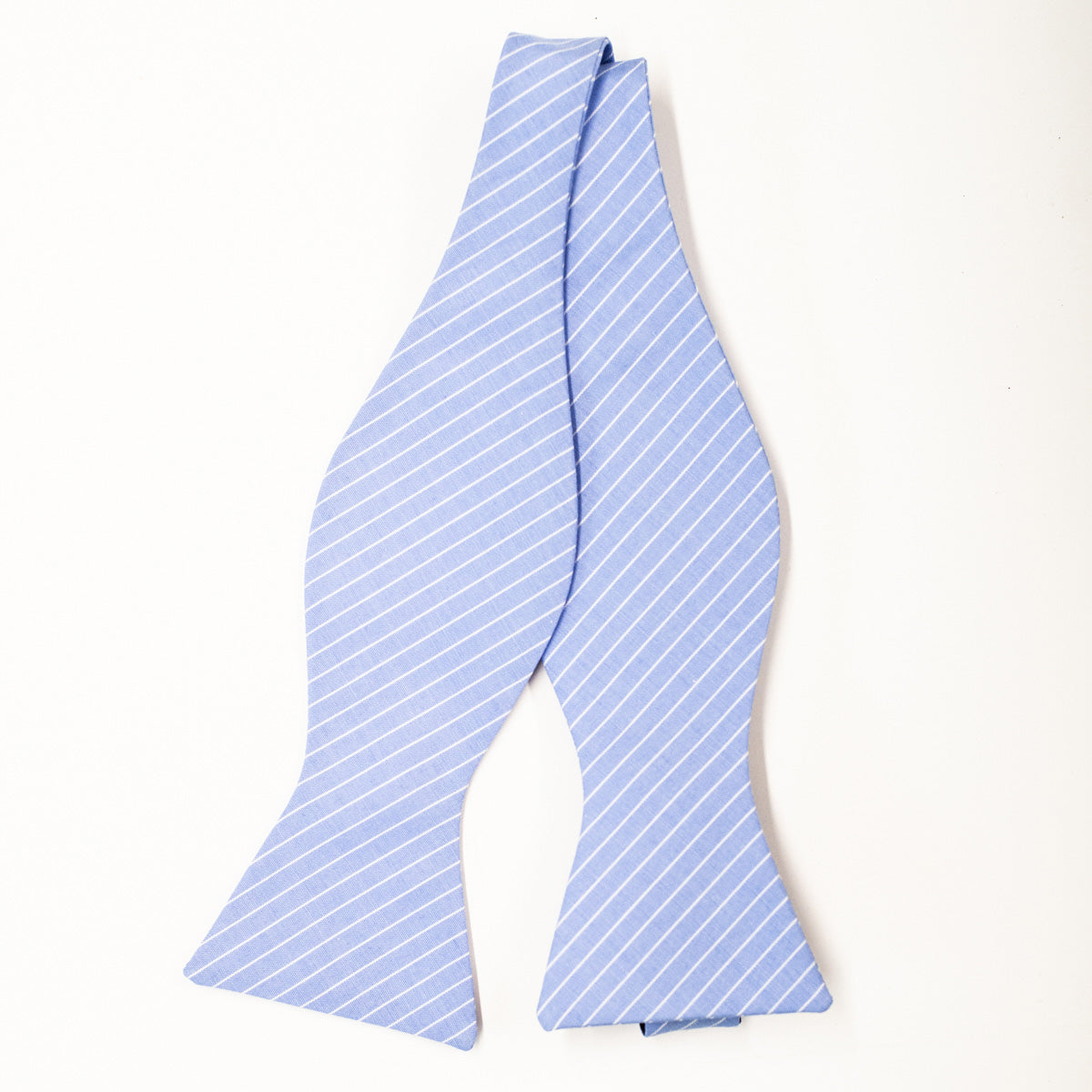 Jefferson Stripe Bow Tie in Periwinkle
