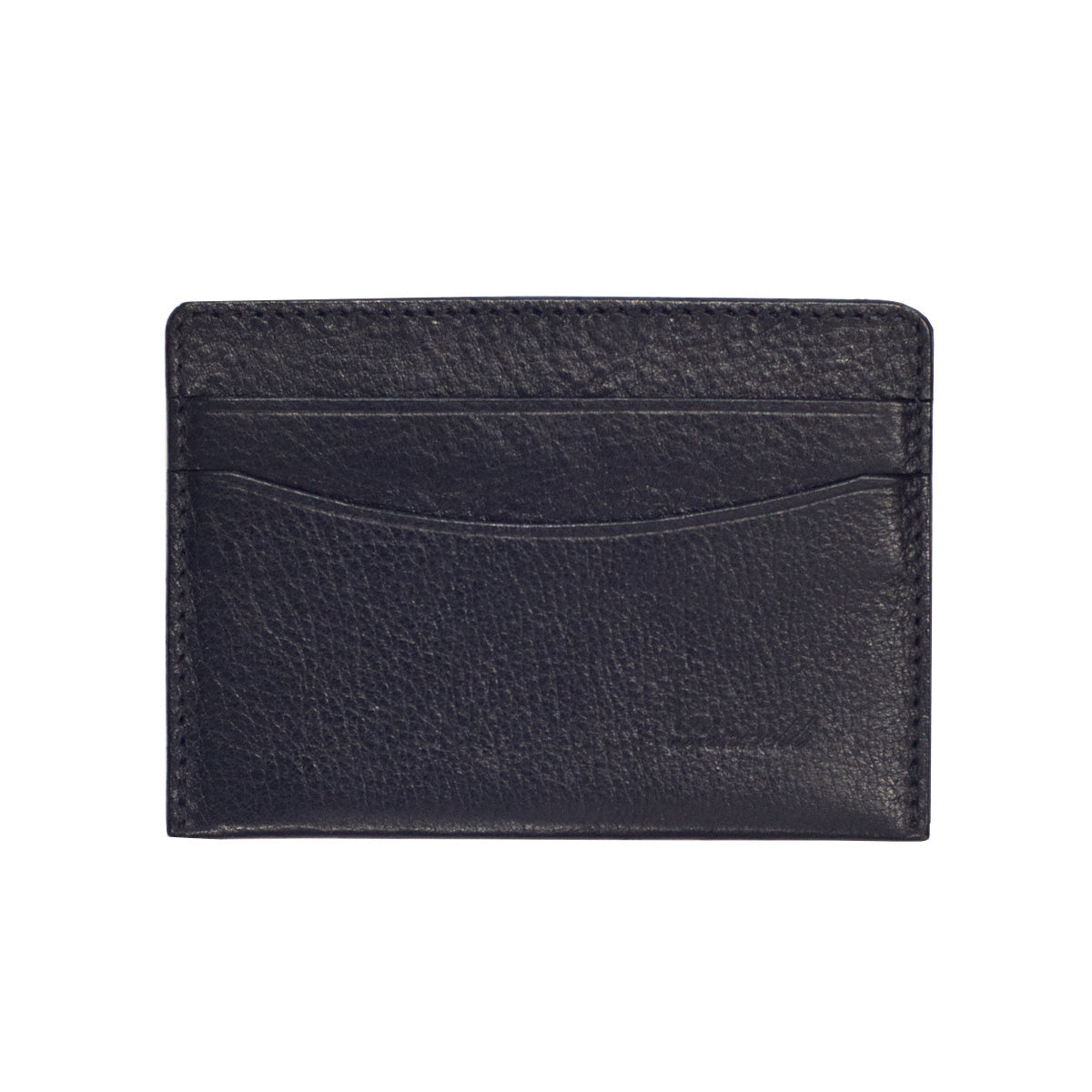 Handmade Wallet in Black Leather