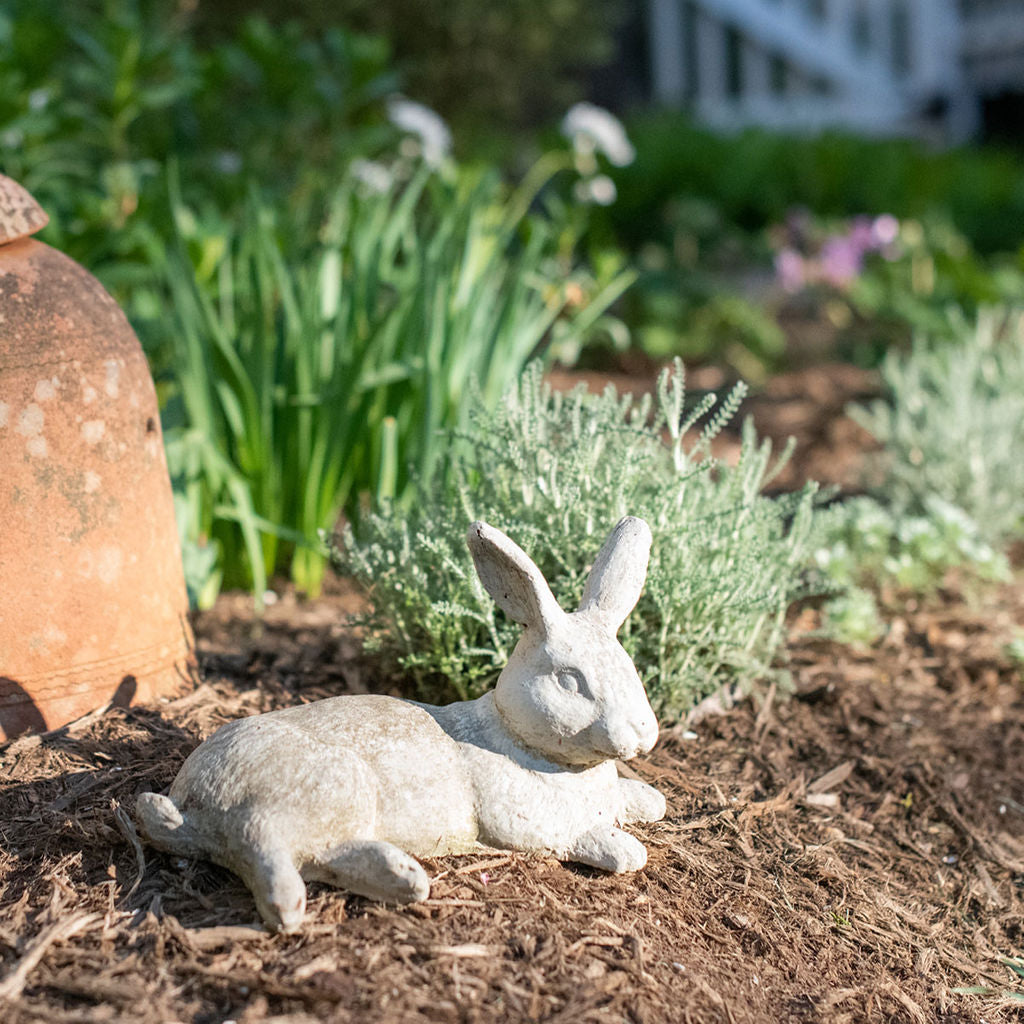 Lying Baby Bunny Rabbit Statue