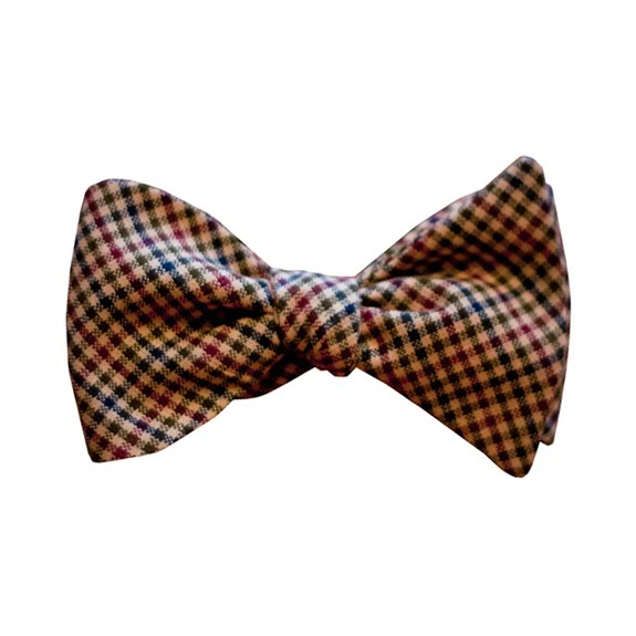 Autumn Check Bow Tie