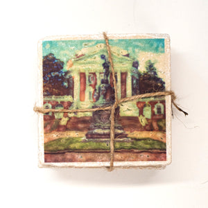 UVA Rotunda Marble Coaster