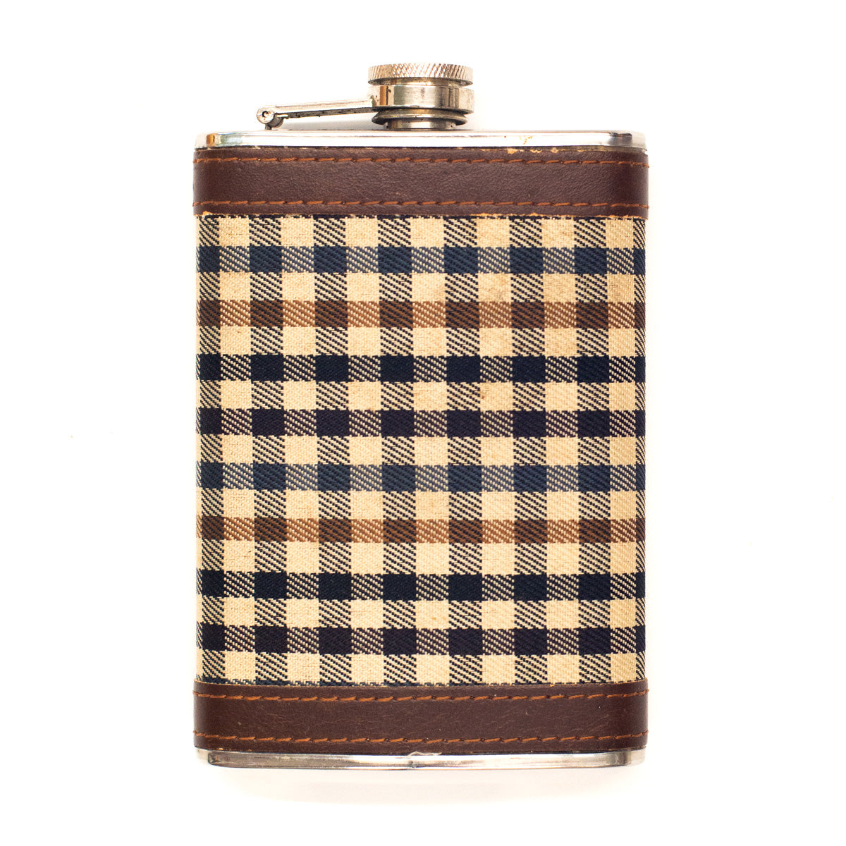 Antique Houndstooth Flask