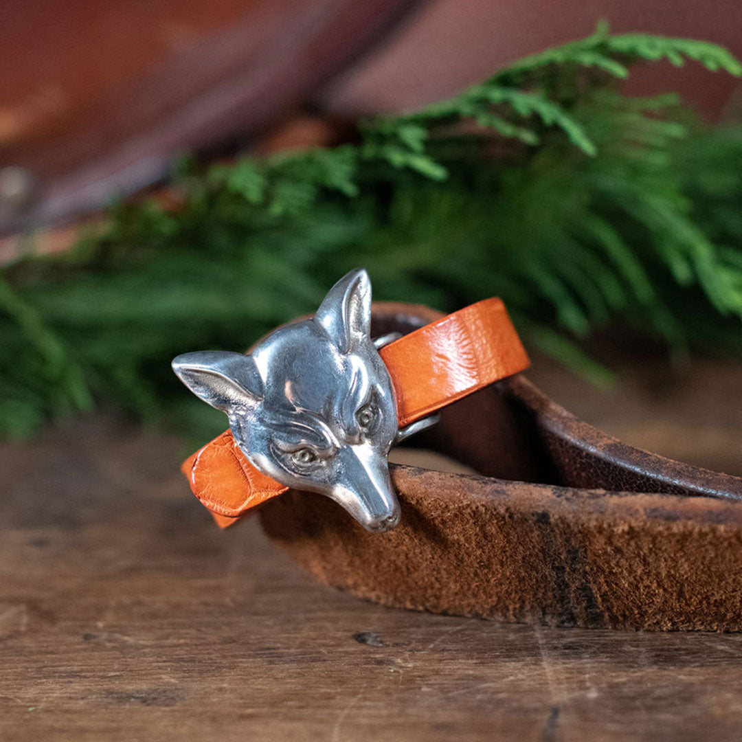 Fox Bracelet with Orange Gator Strap