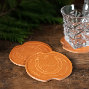 Equestrian Leather Coasters