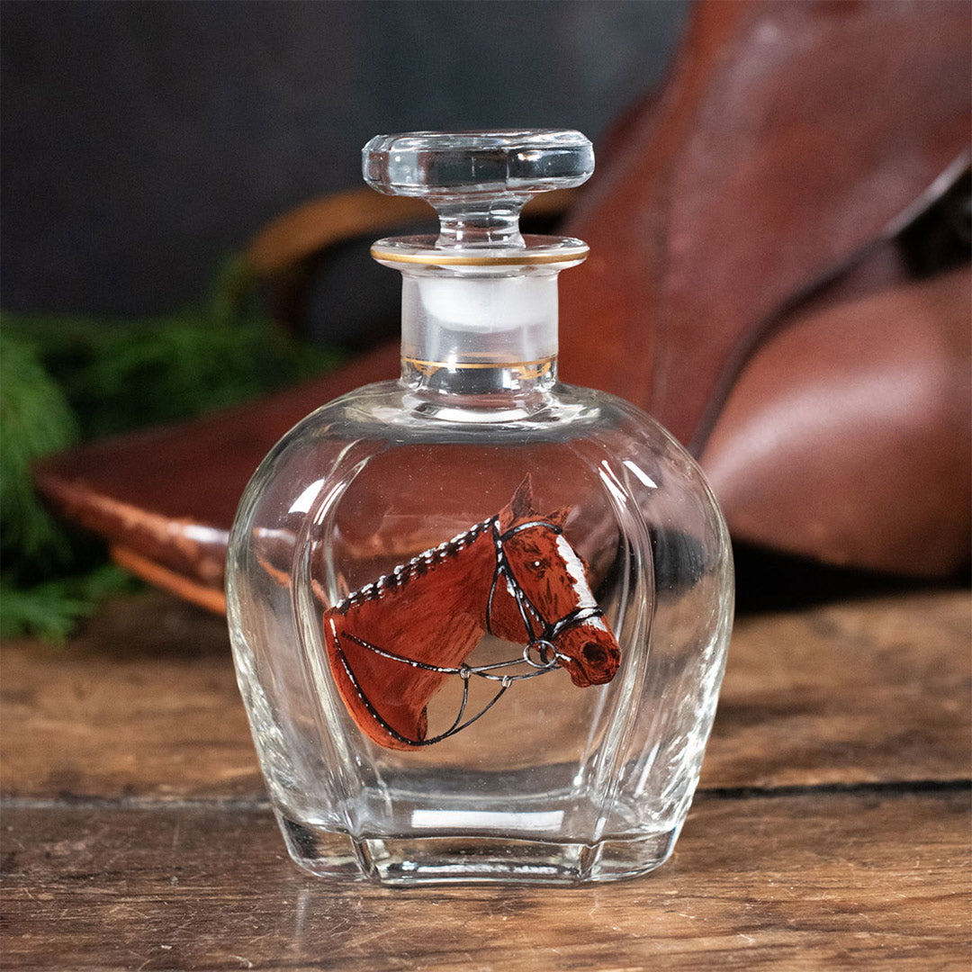 Vintage Hand Painted Horse Decanter