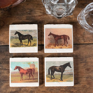Marble Coasters - Horses