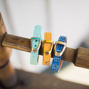 Denim Blue Stirrup Iron Bracelet