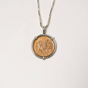 Norway Grouse Coin Necklace