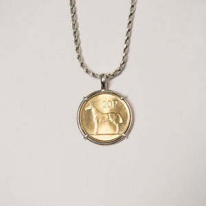 Irish Horse Coin Necklace date 2000