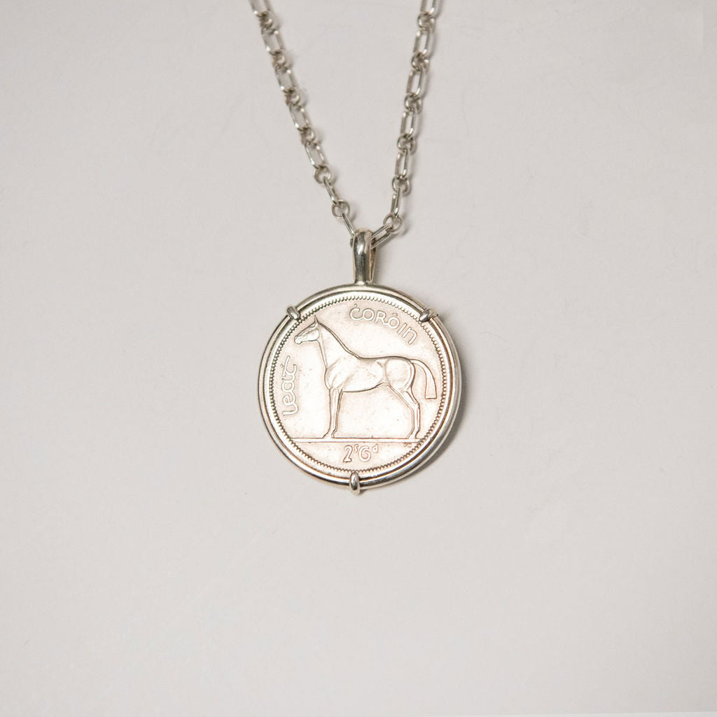 Irish Horse Coin Necklace