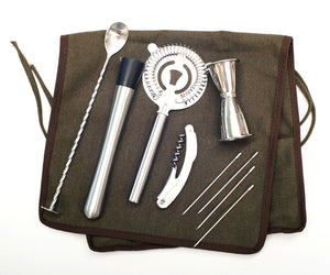 Bar Tools Roll-Up Set