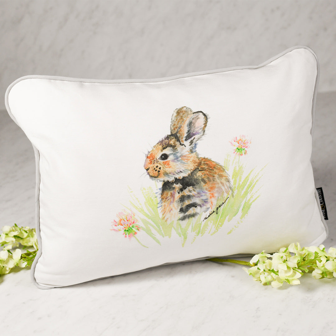 Clover Bunny Pillow, The Maria Pace Collection for the Wine & Country Shop