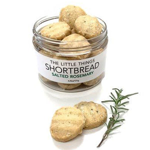 Salted Rosemary Shortbread