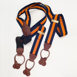 Wide-Grosgrain-Navy/Orange-Brace