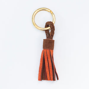 Suede Tassel Key Silks