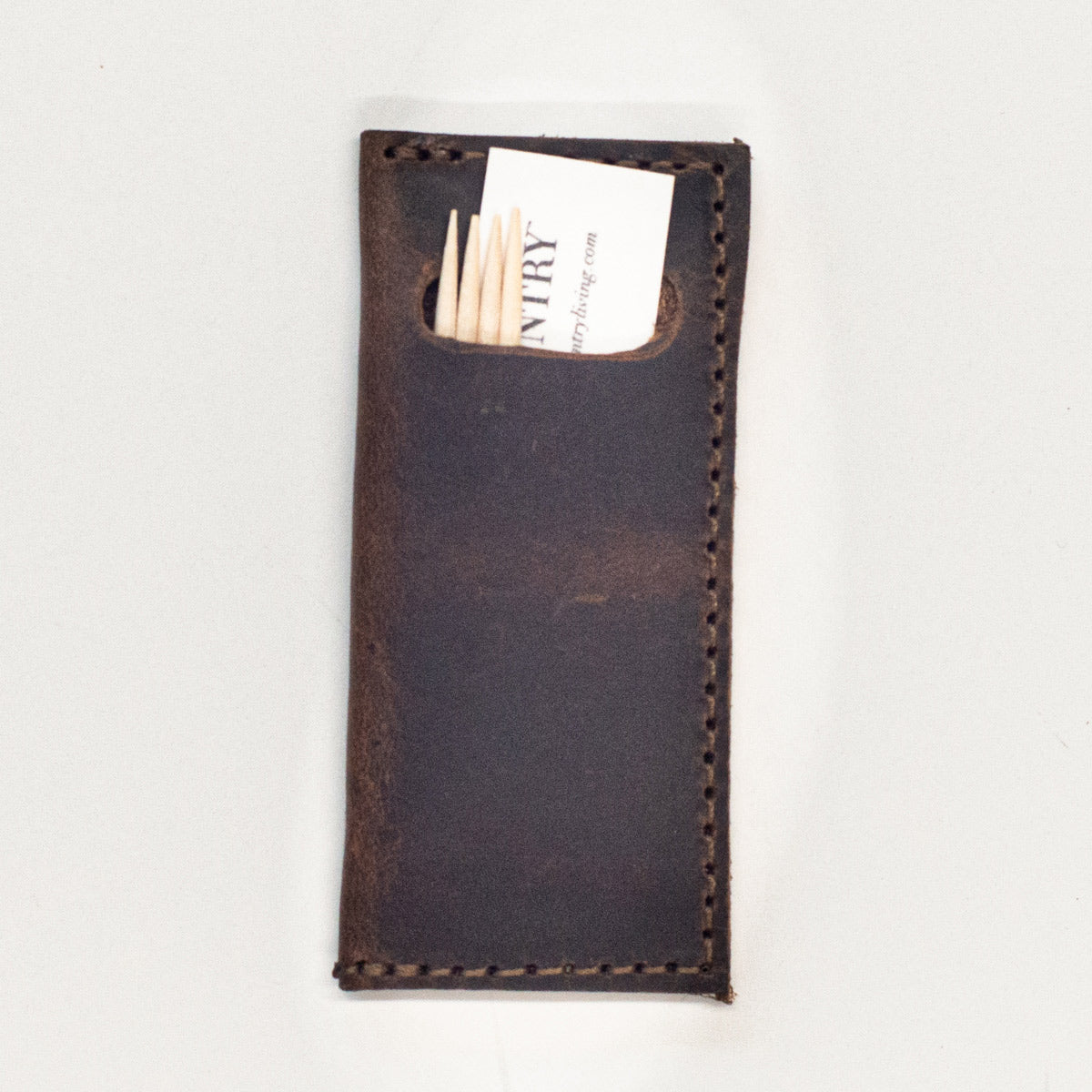 Leather Toothpick Case