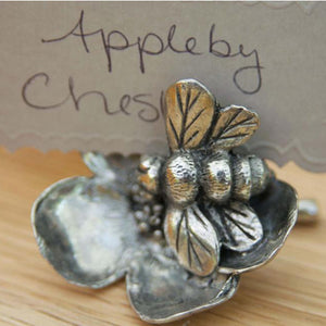 Pewter Bee Place Card Holder