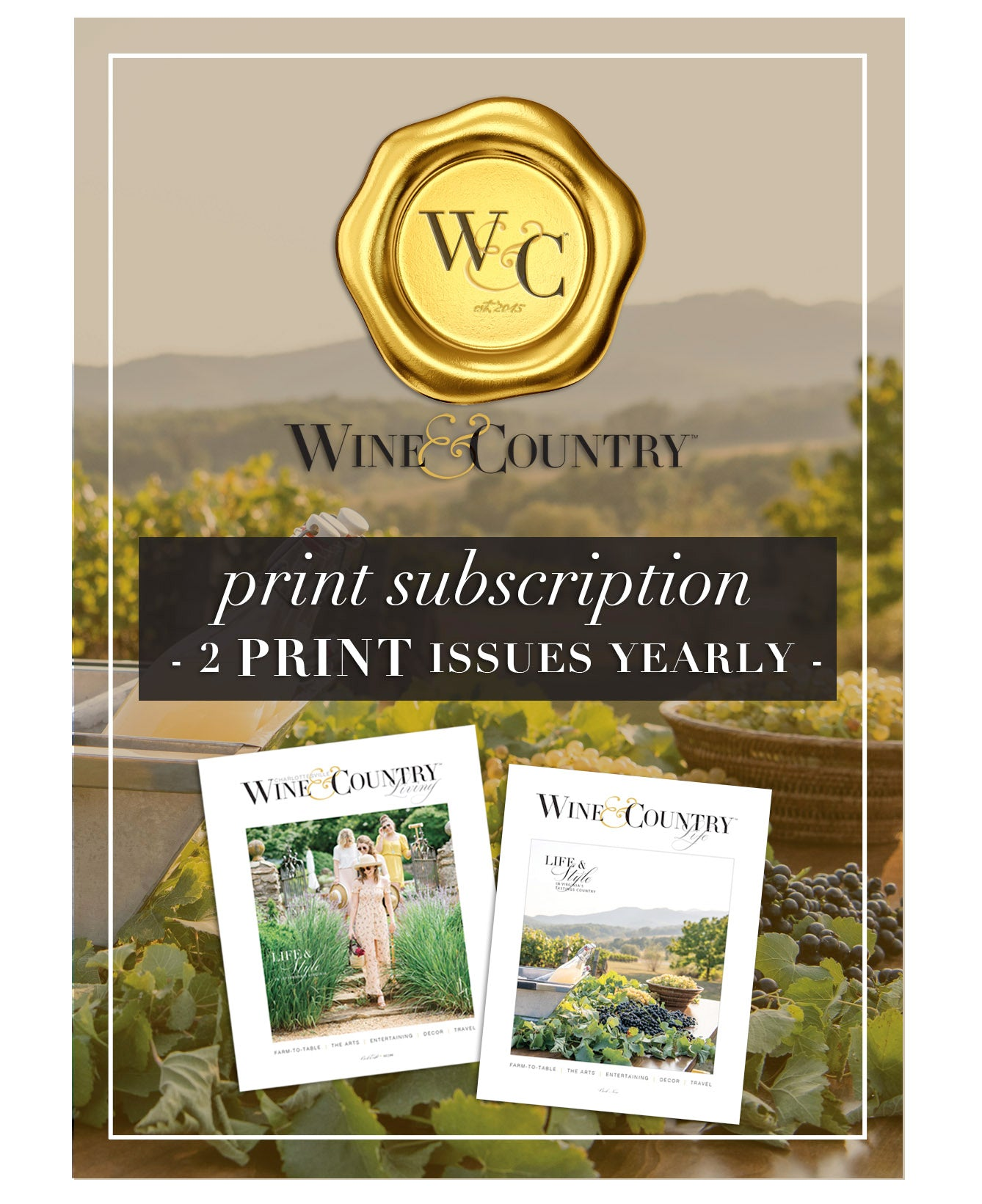 W&C LIFE SUBSCRIPTION - PRINT