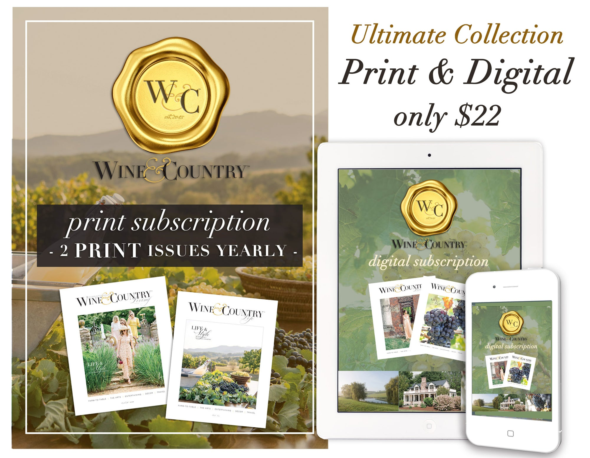 W&C LIFE SUBSCRIPTION - PRINT + DIGITAL