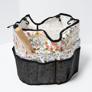 Garden Pail Caddy in English Blooms