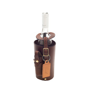Artisan Wine Bottle Holder in Leather