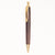Artisan Wooden Pen with Gold Accents