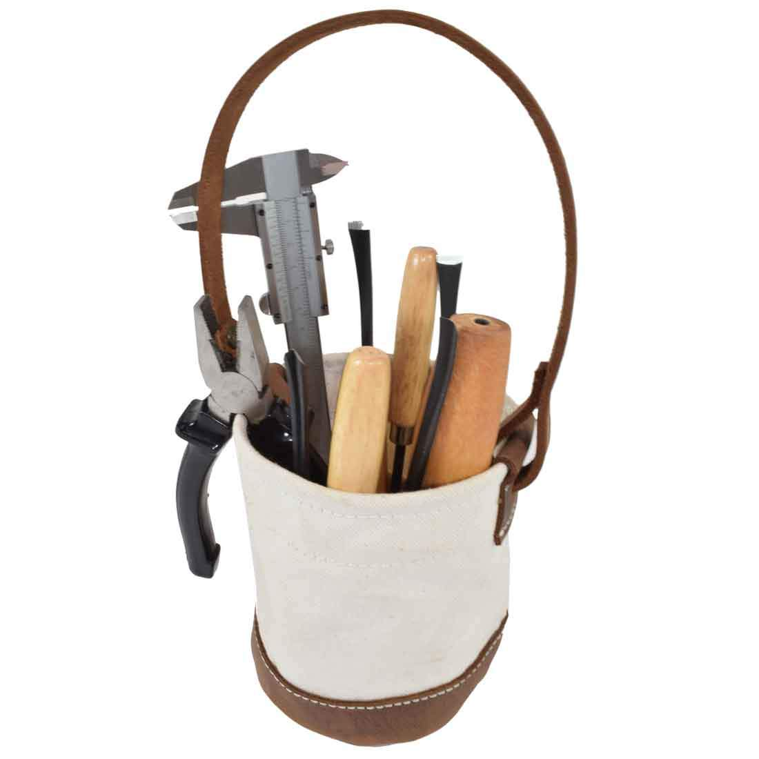 Waxed Canvas Tool Bucket