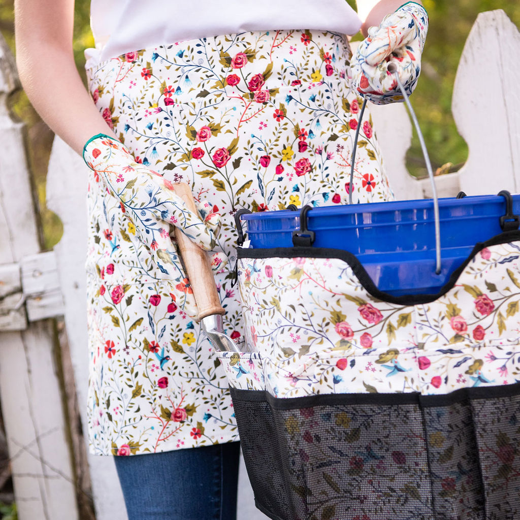 English Blooms Gardening Half Apron
